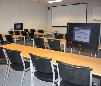 Digital classroom at BDA's new home