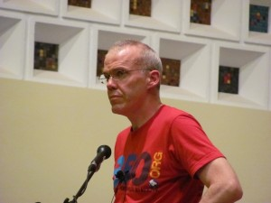McKibben at 2010 Boulder talk (Boulder Reporter photo)