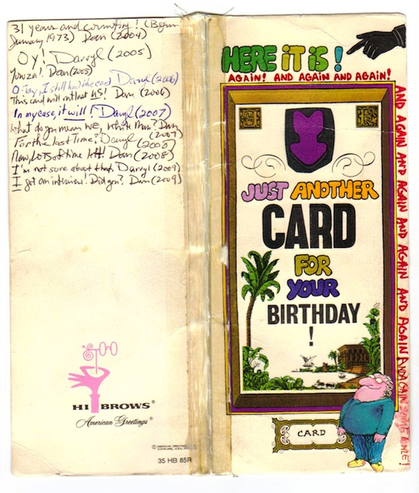 The world's most well-traveled birthday card? (front)