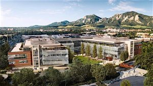 GOOGLEPLEX: Architect's rendering of Google campus now under construction in Boulder. (Credit: Tryba Architects, photo courtesy Volley Studio)