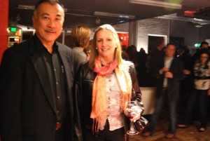 Kei Izawa, left, Boulder correspondent for Sotokoto, with his wife, Mariquita.