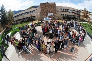 Boulder formation for 350.org rally last October