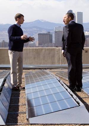 Blake Jones with President Obama last year