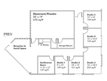 A partial floorplan