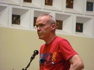 McKibben at 2010 Boulder talk (Boulder Reporter photo)