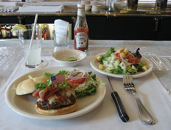 <cutline>A bison burger at Ted's Montana Grill (Reporter photo)</cutline>